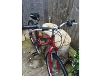 Ladies mountain bike red frame good condition