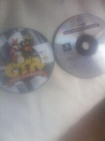 Crash bandicoot 3 warped & Crash team racing. PS1