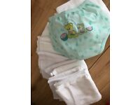 Baby nappy pant and 16 pcs muslins