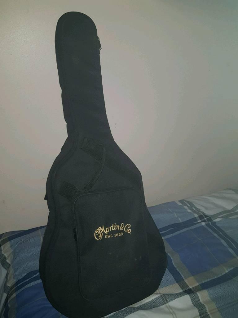 Martin junior dreadnaught guitar with bag