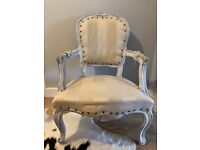 French Louis Style Shabby Chic Chair