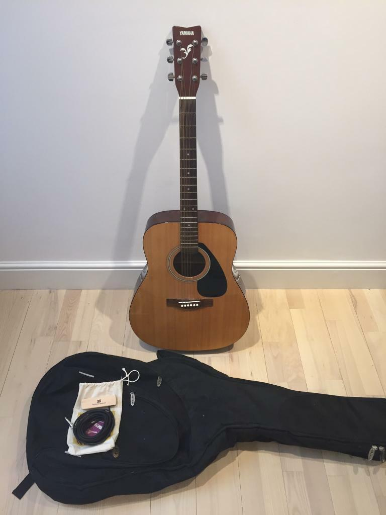 Yamaha F310 Full Size Acoustic Guitar Case And Acoustic