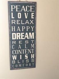 Positive wall decor