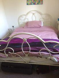 Bed frame (white metal)