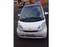 White Smart car low mileage, excellent condition