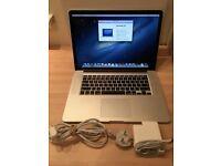 "Apple MacBook Pro 15.4"" With Retina 16GB 512GB 2.7GHz Quad Core Intel i7 £825 cash price"