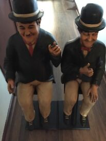 Laurel and hardy sitting figure