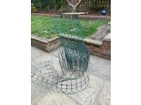 Mixed PVC Coated Green Wire Mesh Fencing / Galvanised Garden Fence - High & Low