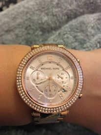 Michael Kors Rose Gold watch used but great condition