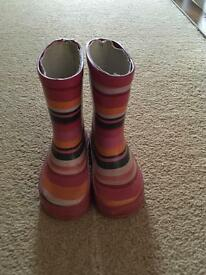 Size 5 stripy toddler wellies