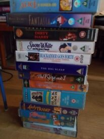 Assorted VHS tapes, including many collectible Disneys
