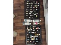 Around 100 essential/fragrance oils, mostly opened