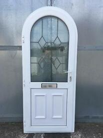 Used Upvc white Front Arched Door