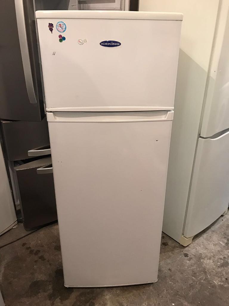 ICEKING white Colour Freestanding Fridge Freezer With Free Delivery 🚚