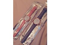 Womens 'The Fifth' Baby Pink or Soft Grey Watch (NEW)