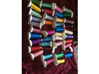 Beautiful embroidery threads all different colours