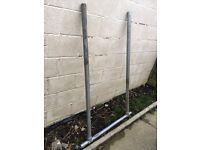 Metal garden steps handrail