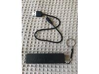 External USB charger with USB cable