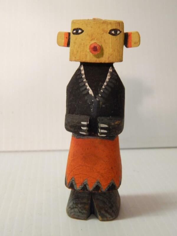 VINTAGE TALL + EARLY HOPI INDIAN HIGHWAY ROUTE 66 KACHINA