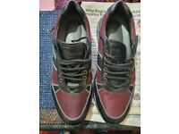 Black and Burgundy Authentic Logo Corneliani Sneakers Size UK 10 (44) Made in Italy