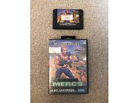 Sega Mega Drive Game Mercs