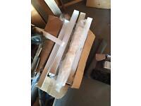 Assorted white PVC corners