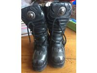 New Rock silver flame boots- size 5
