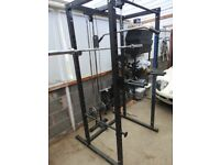 Bolt power squat rack cage with pulley system, like Bodymax with extras