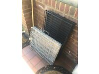 Dog crates (I have two) one medium sized and one small....