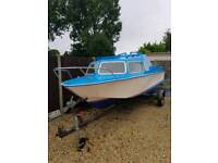 Fishing boat day boat and trailer outboard