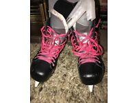 Ice skates football boots speakers