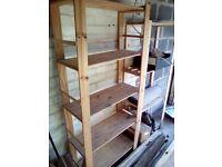 Two Storage Shelving Units.