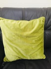 Velvet green cushion