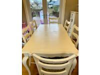French Oak Solid Dining Room Set