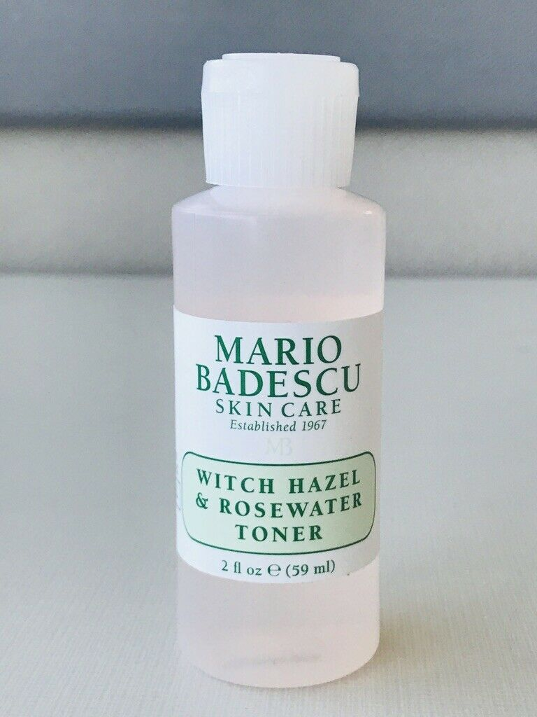 witch hazel and rosewater toner travel size