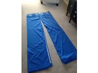 Blue lined curtains excellent condition