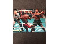 Signed photo of Mike Tyson vs Frank Bruno
