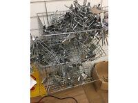 Slat wall brackets and baskets