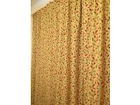Curtains - Heritage Glava Terracotta Lined Pencil Pleat