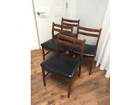 Set of 4 mid century chairs _ scandinavian vintage retro