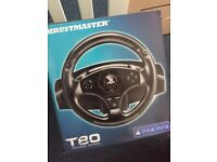 PlayStation 4 steering wheel & pedals