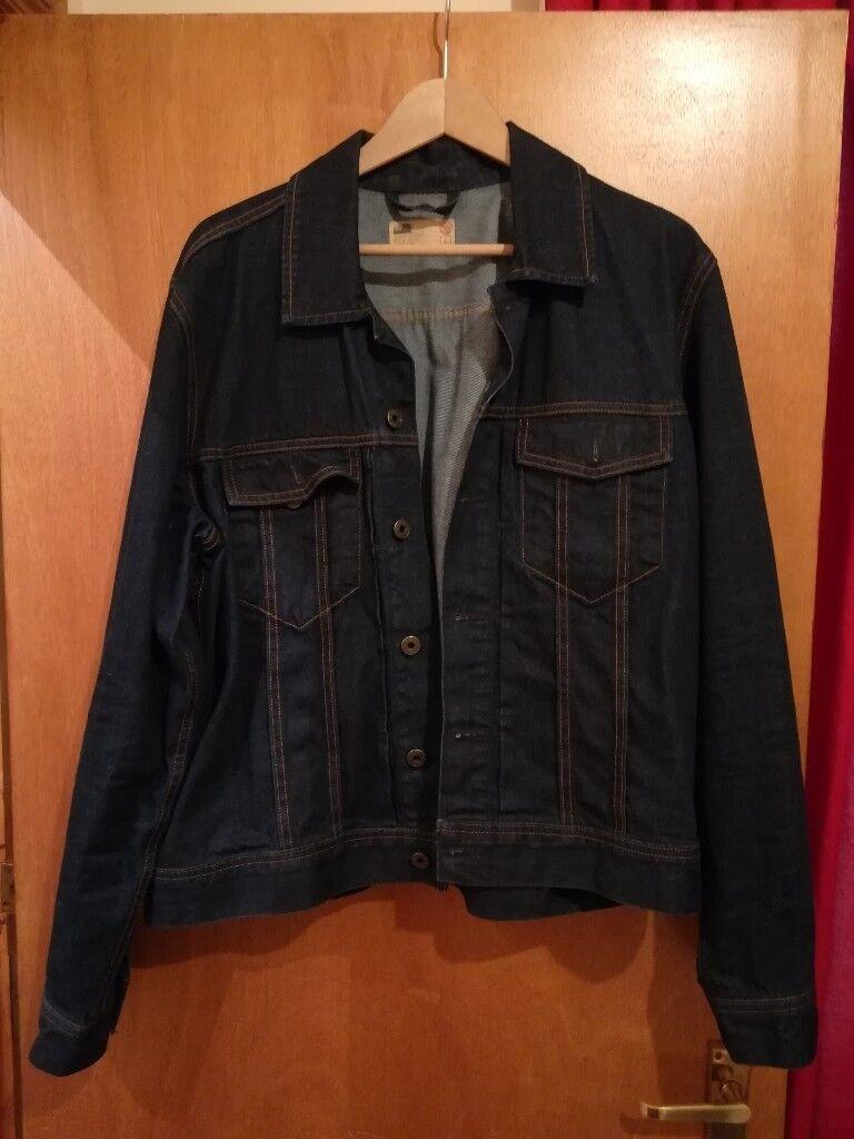 Mens Blue M&S (North Coast) Denim Jacket Size L