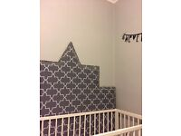 Headboard double bed Moroccan style studded new!