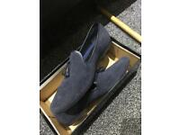 Brand New UK 10 Burton Smart Casual Shoes Navy Blue Paid £50