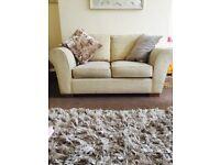 Cream Marks & Spencer's 2 seater sofa