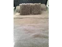 Dunelm king size champagne Bedspread
