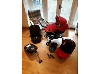 Silver Cross Wayfarer Travel System Chilli Edition **REDUCED FOR QUICK SALE** £350