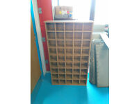 Pigeon Hole Shelving Unit for CDs and Accessories - Good Condition UK