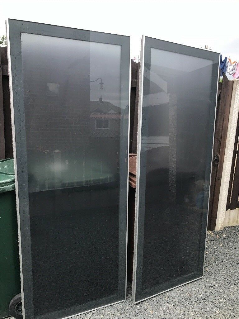 Pair large pax ardal ikea sliding doors can deliver in for Sliding glass doors gumtree