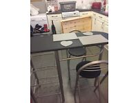 Breakfast bar with 2 stools,slight fade mark on top of table,welcome to come and view